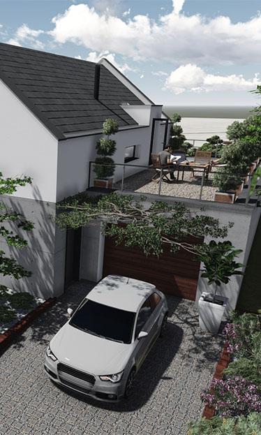 Wizualizacja budynku mieszkalnego jednorodzinnego